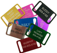 Pet tags, military dog tags and license frames, customized!